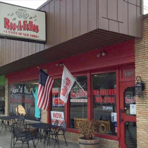 Exterior view of Rocafellas Pizza